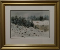 räv på jakt i vinterlandskap (Kenneth Lindgren)