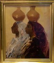 Damer med krukor på huvudet (Hilding Rösiö)