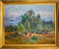 Älgfamilj i skogsbrynet (Harald Grennard)