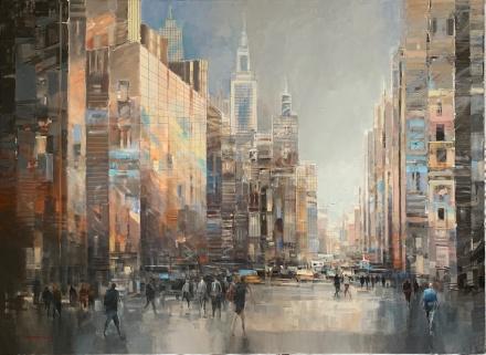 "Dominik Pawlowski 150x110 cm "" Big dreams in USA """
