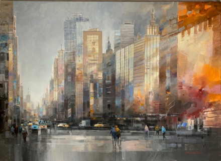 "Dominik Pawlowski 150x110 cm "" Dreams are big in USA """