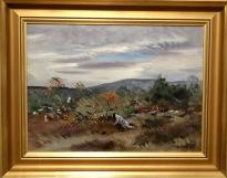 Jakthund i skogslandskap (Lindorm Liljefors)