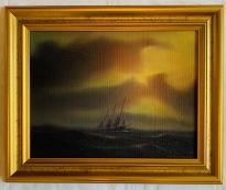 Båt på havet (K-G Holmberg)