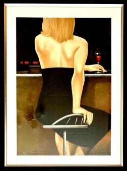Kvinna i bar