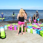 Performance To carry water. To carry 5890 litres one day, at Ribersborg city beach, Malmö/Sweden (aug 2015) stills from film by Christian Jönsson