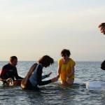 Emeli Ek, Martin Brandqvist, Tina Quartey, Emil Sjunnesson, water percussion. Photo: Johan Haugen