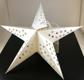 Adventsstjärna Ø30cm Vit