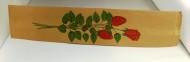 Blompåsar med rosmotiv invik. 100/fp