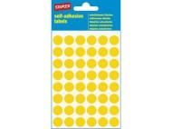 Etikett färgsignal gul 12mm 240/fp