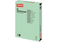 Kopieringspapper STAPLES A3 80g Mintgrön 500/FP