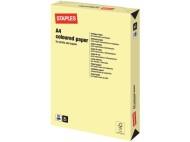 Kopieringspapper STAPLES A4 80g Ljusgul 500/FP