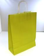 Papperskasse 24x10x32cm Grön med vita tvinnade handtag 50/fp