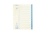 Pappersregister JOPA A4 1-10 vit/blå