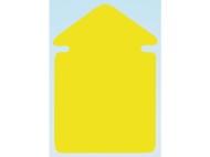 Textkartong pil fluor gul 130x90mm 25/FP