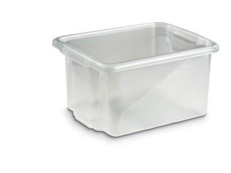 Förvaringsbox 23L Silver