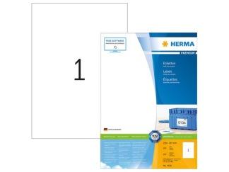 Etikett 210x297mm Herma 100/fp