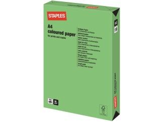 Kopieringspapper STAPLES A4 80g Vårgrön 500/FP