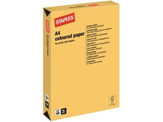Kopieringspapper IQ A4 80g Guldgul 500/FP