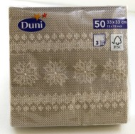 Julservett Knitting Grå 33cm 3-lag 50/fp