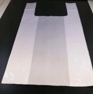 Plastkasse 33my vit olika strl. 500/fp