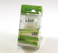 Klotlampa LED E14 4w