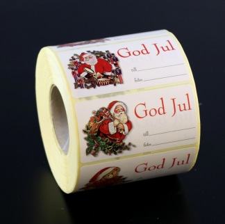 Juladresser på rulle 1000/rl 4 motiv.