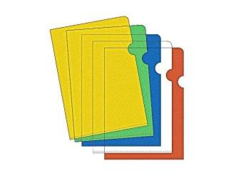 Aktmapp A4 0,12mm sort.färger 10/fp