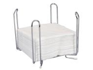 Servetthållare 33x33cm Krom