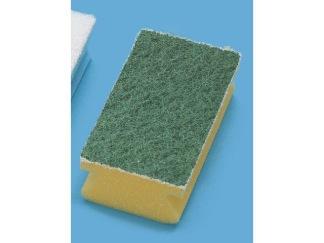 Disksvamp gul/grön 2-pack