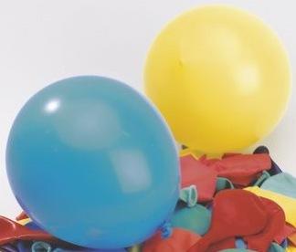 Ballonger examen gul/blå 8/fp