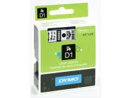 Tape DYMO D1 19mm svart på vit