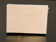 Kuvert till presentkort C6 11,4x16,2cm vit 50/fp