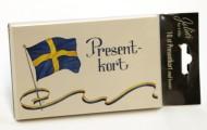 Presentkort m kuvert 13,5x9cm Sverige 10/fp