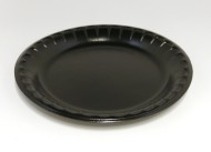 Salladstallrik 22x2,5cm svart 125/fp