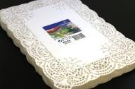 Spetspapper rektangulärt vit