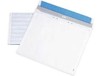 Bälgkuvert MAILMAN B4 täckr. vit 50/fp