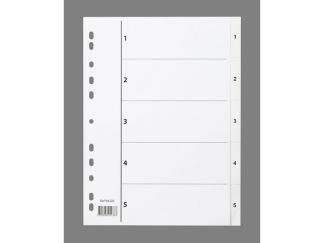 Plastregister A4 1-5 vit