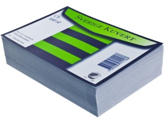 Kuvert konsument fp C6 linj vit100/fp