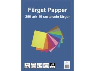 Kopieringspapper A4, 80g 10 färger 250/FP