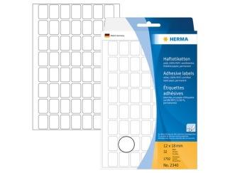 Etikett Herma allround 12x18mm vit 1792/fp