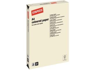 Kopieringspapper STAPLES A4 120g Creme 250/FP