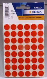 Etikett färgsignal röd 12mm 240/fp