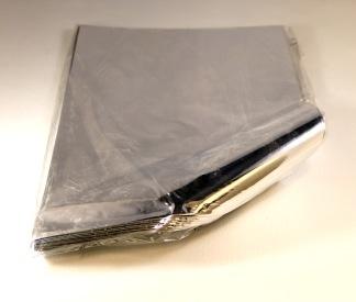 Foliepåse silver 250x400mm UTAN tejpremsa 100/fp