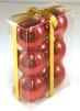 Julgranskulor 6-pack - Röd