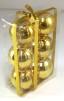 Julgranskulor 6-pack - Guld