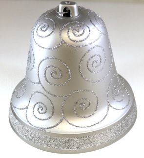Julklocka 20cm silver