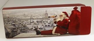 Julkartong tomte på tak 30x12x3cm  100/fp