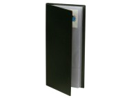 Visitkortsbok inbunden för 96 kort svart