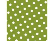 Servett 33cm 3-lag prickig oliv