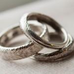 Silverringar med mönster